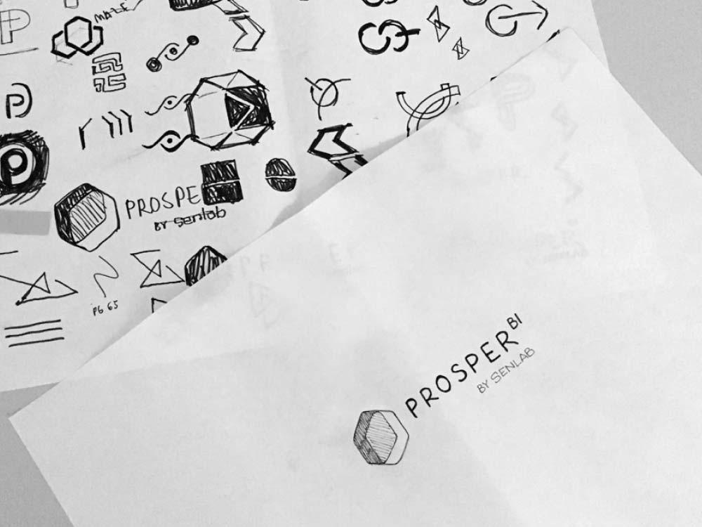 Prosper BI Logo Sketch