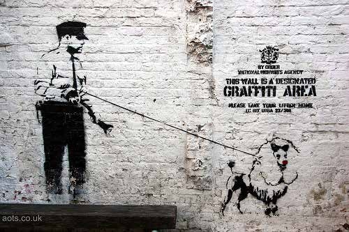 Banksy artwork outside cargo Shoreditch