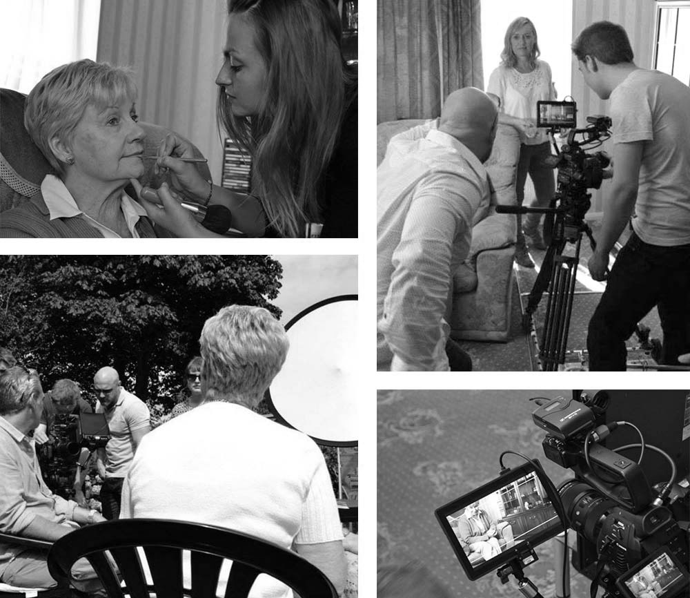behind the scenes of Age UK Video shoot